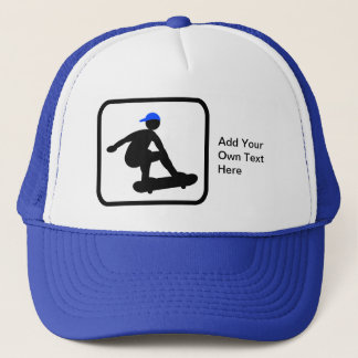 Customizable Skater on Skateboard Logo Trucker Hat