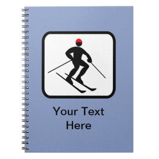 Customizable Skier Logo Notebook