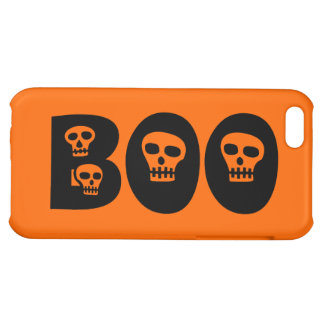 "Customizable Skully ""Boo"" Cover For iPhone 5C"