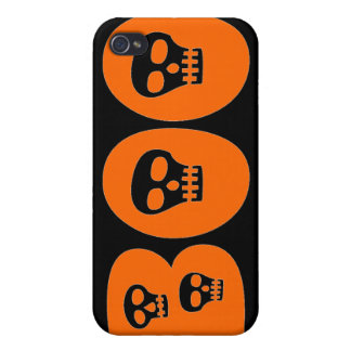 "Customizable Skully ""Boo"" iPhone 4 Covers"