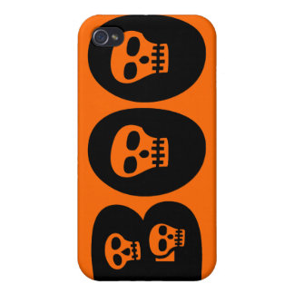 "Customizable Skully ""Boo"" iPhone 4 Cover"