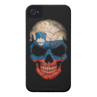 Customizable Slovenian Flag Skull Case-Mate iPhone 4 Case