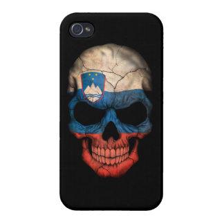 Customizable Slovenian Flag Skull iPhone 4 Cases