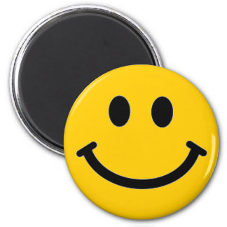 Customizable Smiley Face Magnet* 6 Cm Round Magnet