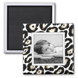Customizable Snow Leopard Photo Frame Magnet