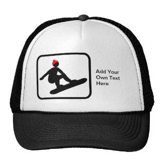 Customizable Snowboarder Logo Cap