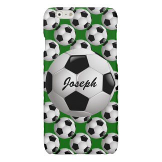 Customizable Soccer Ball Glossy iPhone 6 Case