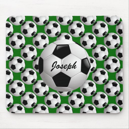 Customizable Soccer Ball Mouse Pad