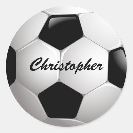 Customizable Soccer Ball Stickers