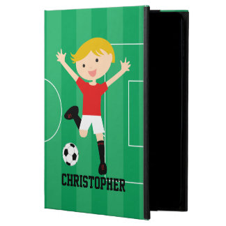 Customizable Soccer Boy 1 Red and White Powis iPad Air 2 Case