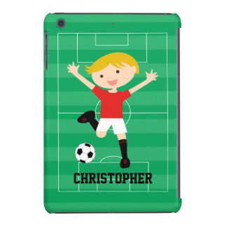 Customizable Soccer Boy 1 Red and White iPad Mini Case