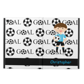 Customizable Soccer Boy Goal 1 Powis iPad Air 2 Case