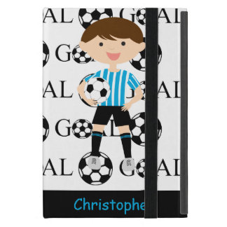 Customizable Soccer Boy Goal 1 iPad Mini Cover