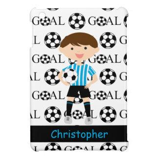 Customizable Soccer Boy Goal 1 iPad Mini Cover