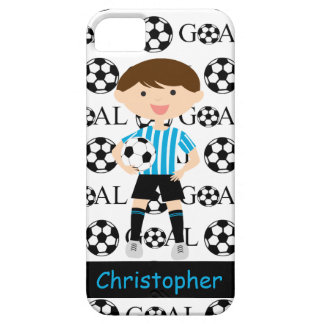 Customizable Soccer Boy Goal 1 iPhone 5 Cover