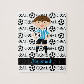 Customizable Soccer Boy Goal 1 Puzzle