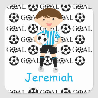 Customizable Soccer Boy Goal 1 Stickers