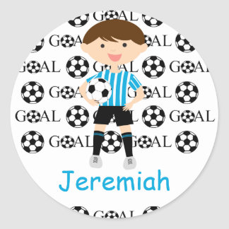 Customizable Soccer Boy Goal 1 Stickers