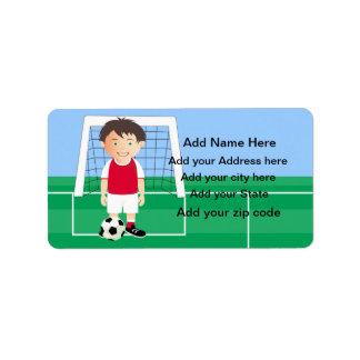 Customizable Soccer Player Address Label