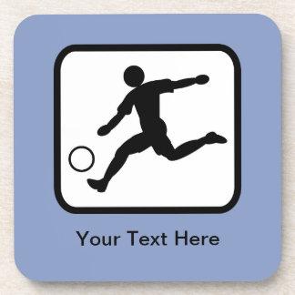 Customizable Soccer Player (Footballer) Logo Coaster