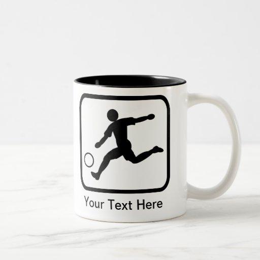 Customizable Soccer Player (Footballer) Logo Mugs