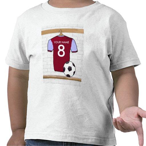 Customizable Soccer Shirt (claret and blue) Tshirt