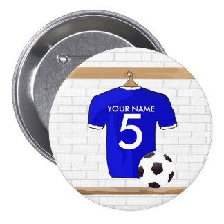 Customizable Soccer Shirt Party award Buttons