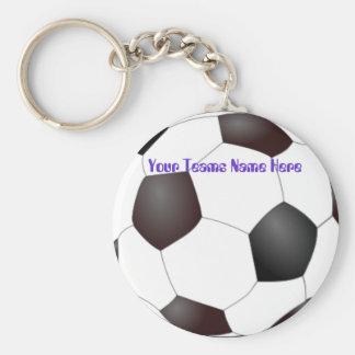 Customizable Soccerball Team Keychains