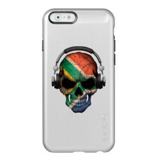 Customizable South African Dj Skull and Headphones Incipio Feather® Shine iPhone 6 Case