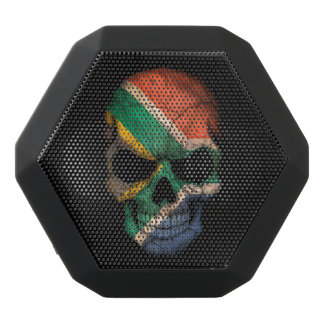 Customizable South African Flag Skull Black Boombot Rex Bluetooth Speaker