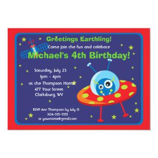Customizable Space Alien Card