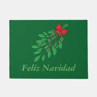 Customizable Spanish Feliz Navidad Doormat