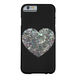 Customizable Sparkly colourful silver mosaic Heart Barely There iPhone 6 Case