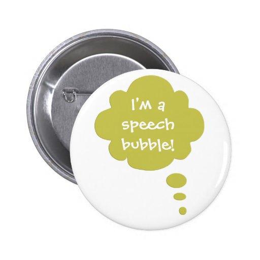 Customizable Speak Speech Bubble Balloon Button