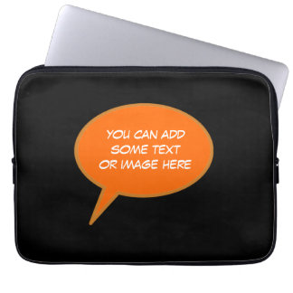 customizable speech cartoon bubble laptop sleeve