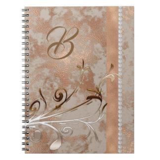 Customizable Spiral Notebook faux Rose Gold design