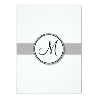 Customizable Split Monogram Seal Template 14 Cm X 19 Cm Invitation Card