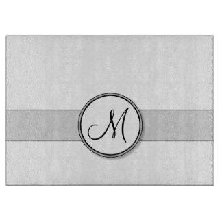 Customizable Split Monogram Seal Template Cutting Board