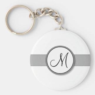 Customizable Split Monogram Seal Template Key Chains