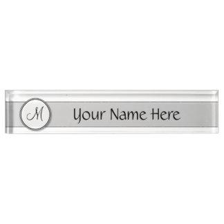 Customizable Split Monogram Seal Template Nameplate