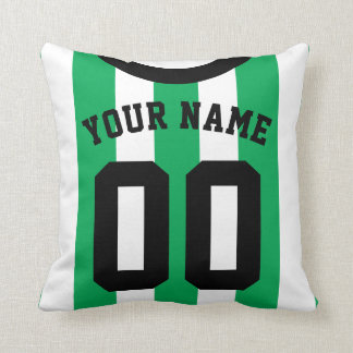 Customizable Sports Jersey Template Pillow, Soccer Cushion