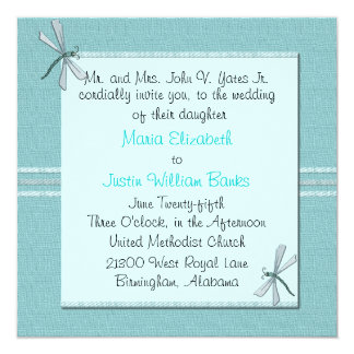 Customizable Square Wedding Invitation