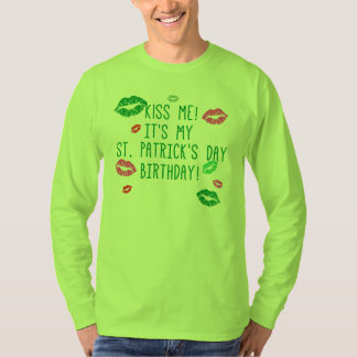 Customizable St Patrick's Day Birthday Tshirt