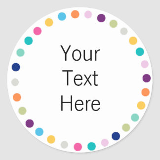 Customizable Sticker Modern Dots
