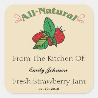 Customizable Strawberry Jam - Jelly Labels