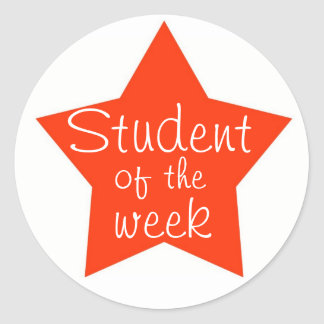 Customizable Student Of The Week Stickers