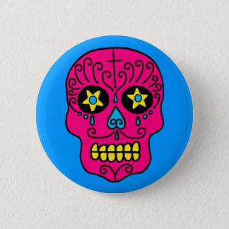 Customizable Sugar Skull 6 Cm Round Badge