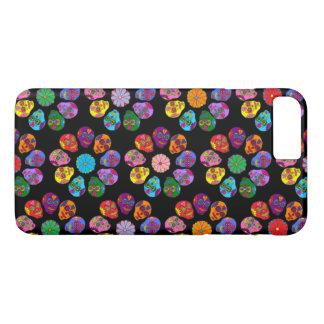 Customizable Sugar Skull Flowers iPhone 7 Plus Case