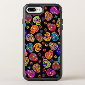 Customizable Sugar Skull Flowers OtterBox Symmetry iPhone 7 Plus Case