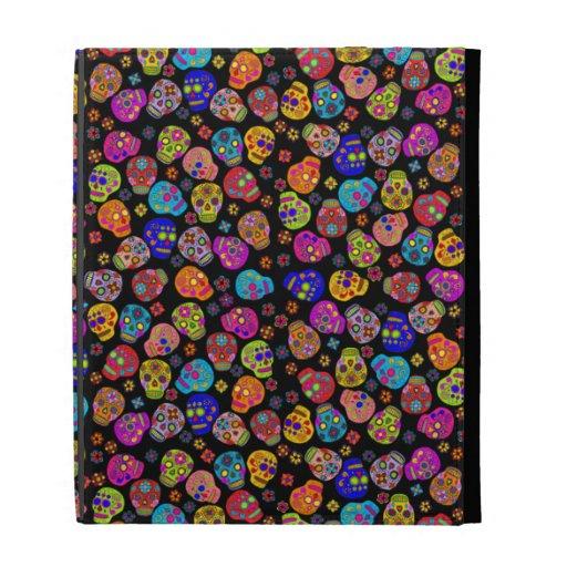 Customizable Sugar Skulls iPad Folio Case